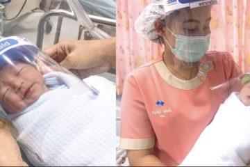 嬰兒無法戴口罩!醫院幫小貝比特制「迷你防護面罩」:保護可愛又純淨的孩子們