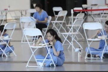 辛苦你們了!「抗疫功臣」午飯只能坐地上吃 民眾:「心酸不捨」